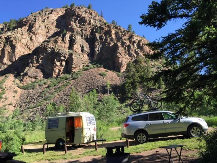 Crested Butte camping in Cement Creek