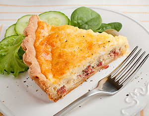 Food Hedz Bacon and Double Cheese Quiche
