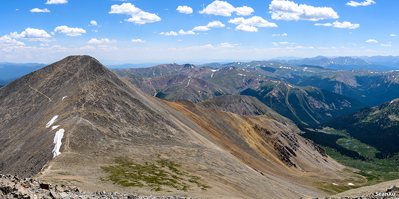 Grays peak from Torreys