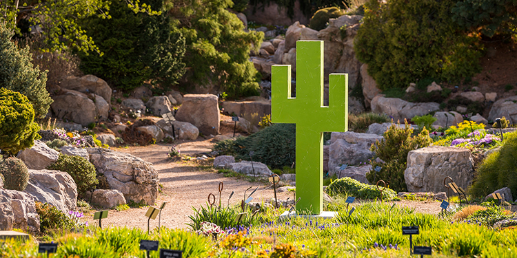 Denver Botanic Gardens - Pixelated: Sculpture by Mike Whiting Cactus