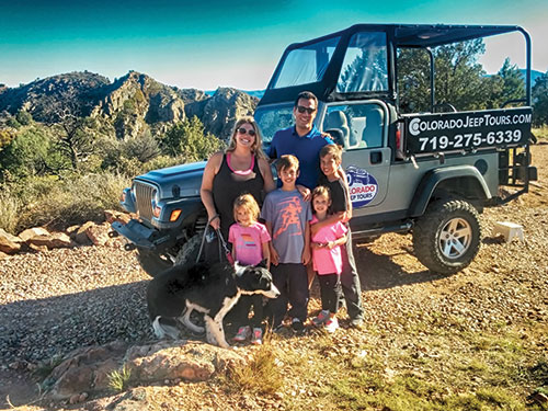 Family on Jeep Tour