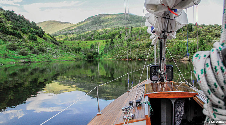 Ruedi Reservoir Sailboat