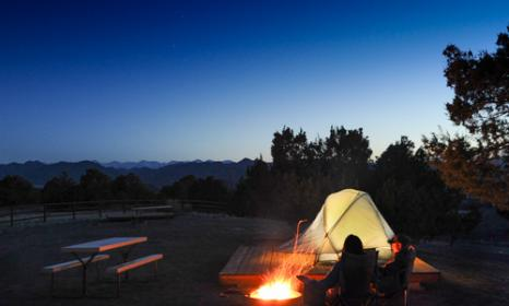 tent camping near the Royal Gorge