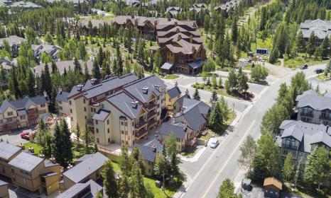 Aerial view of our lodging in Breckenridge.