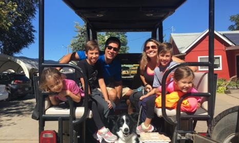 Family with TWO sets of twins and dog on a jeep tour!