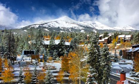 View of Breckenridge Ski Resort from one of our tower condos.