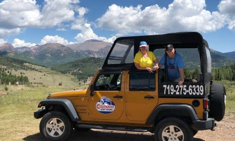 Jeeping to Cripple Creek and Victor on the Gold Belt tour.