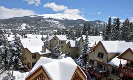 A look over the rooftops of the townhomes at our hotel in Breckenridge.