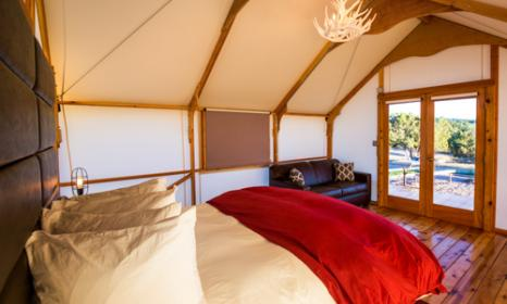 glamping tent at Echo Canyon Campground