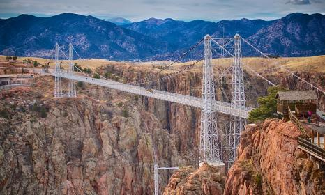 Jeeping the Royal Gorge Bridge, 1,000 feet over the Arkansas River.