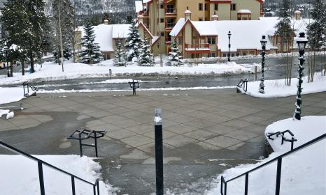 View of our Breckenridge lodging property from the Snowflake Lift.