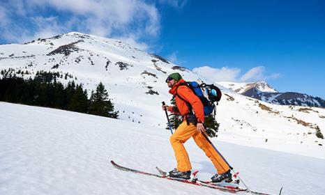Uphill Skiing in Colorado