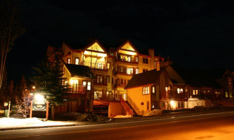 Night time at our Breckenridge hotel.