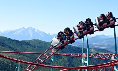 The Cliffhanger Roller Coaster - seasonal