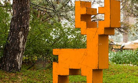 Pixelated: Sculpture by Mike Whiting