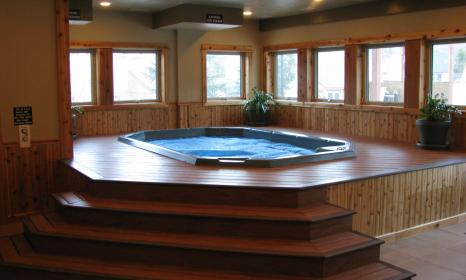 Indoor hot tub at our Breckenridge hotel.