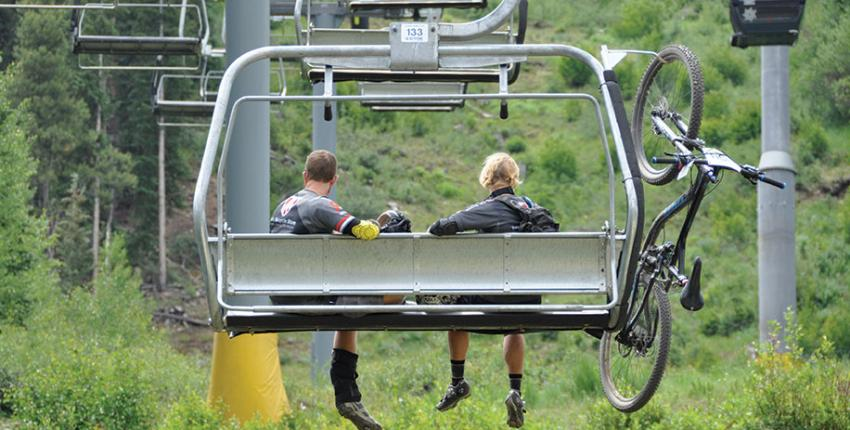 Lift-access mountain biking