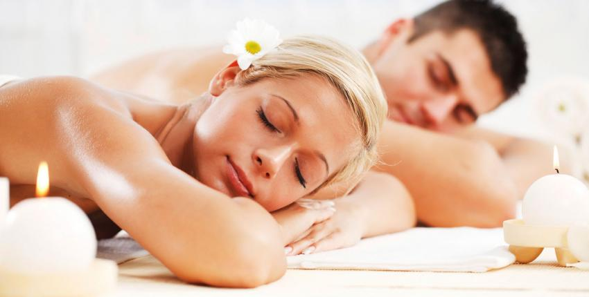 couple's massage in a relaxing spa