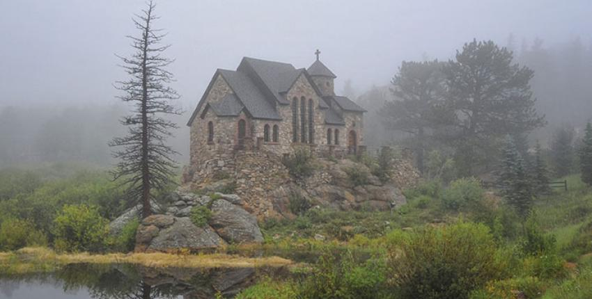 chapel on the rocks
