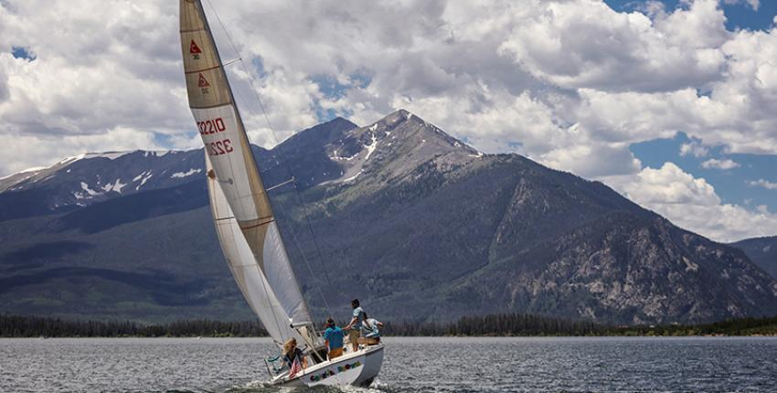 Sailing in Dillon Reservoir