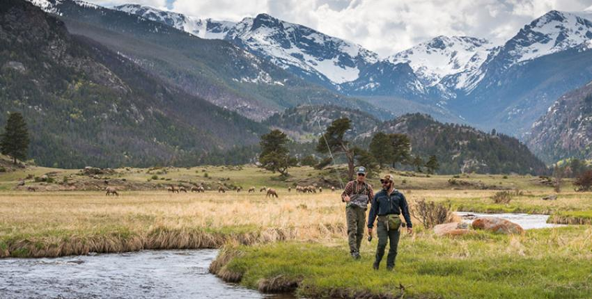 Fly Fishermen in Estes Park