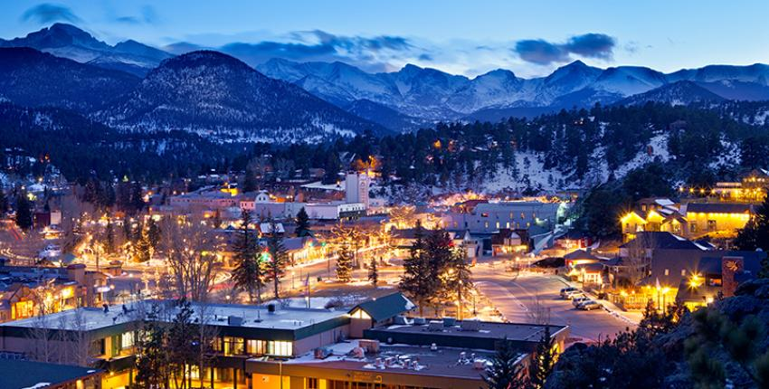 Estes Park at night